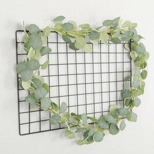 Artificial Green Eucalyptus Vines Rattan artificial Fake Plants Ivy Wreath Wall Decor Vertical Garden Wedding Decoration