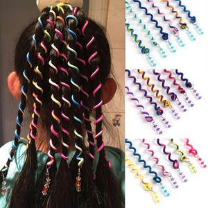 6 Unids / lote Colorido Curler Hair Braid para Chica Herramientas de Peinado del Cabello Festival Diario Lindo Roller Braid Styling Accesorios