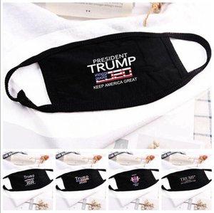 Trump Gesichtsmaske USA US-Präsident Wahl Mouth Trump 2020 Brief gedruckt Gesichtsschutzhülle Party-Designer Masken LJJA4077
