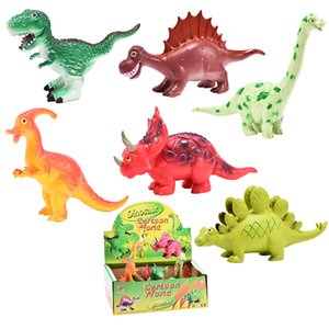Cross Border Jurassic Simulated Dinosaur Models Toy Cartoon T-Rex Stegosaurus Dinosaur Toy Children'S Educational Toy