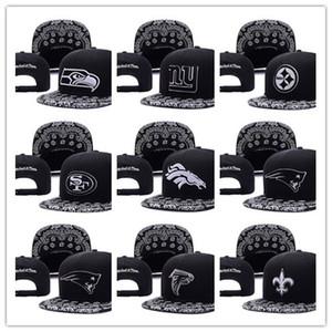 Livraison gratuite wholesale Hommes Femmes Basketball Snapback Baseball Snapbacks Football Chapeaux Hommes Flat Caps pour mélanger sport réglable