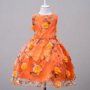 Fashionable Baby Girls Princess Dress Floral Printed Princess Party Dress Costume