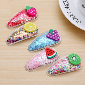 20pcs / Lot 2020 nuovo del Fruit forcine Lunghezza 5,5 clip CM Strawberry bang per bambini Dolce bordo clip barrettes dei capelli gioielli e accessori