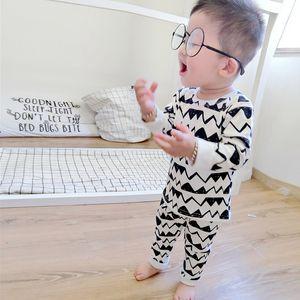 2019 Autumn Winter Infant Baby Girls Clothes Toddler Kids Boys Cartoon Cotton Print Pajamas Newborn Baby Sleepwear Sets DB527