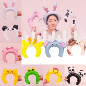 Rabbit Ears Balloons Kids Birthday Panda Fox Elephant Hair Bands Balloon Party Adorable Hair Sticks Ballons