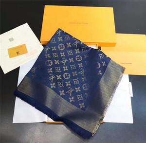 Дизайнер шарф блестящая серебряная нить шерстяной платок бренд модные женская одежда шарф размер 140*140 см большой квадратный шарф шаль