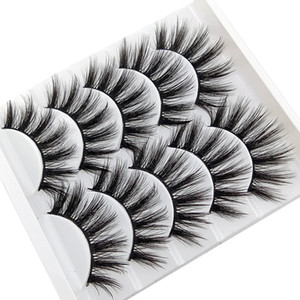 lot doğal yumuşak üç boyutlu çok katmanlı kalın makyaj göz seçim için 7 modeller lashs 5 çift / 3D sahte kirpikler