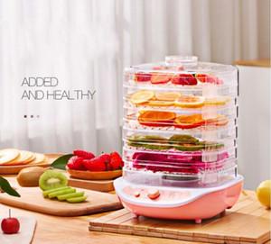 Secas Frutas Legumes Erva carne Máquina Household MINI Food Dehydrator Pet carne desidratada 5 bandejas de Snacks Air Secador