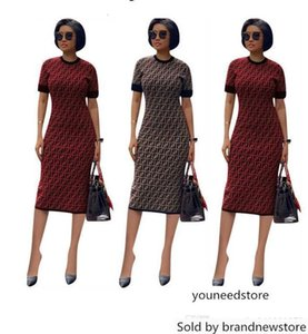 FF womens one piece dress sleeveless skirt summer designer dress knee-Length high quality bodycon skirt elegant luxury clubwear klw1043