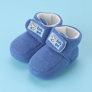 Snow Boots walking 0-1 year old female walking winter snow boots baby shoes warm baby cotton shoes