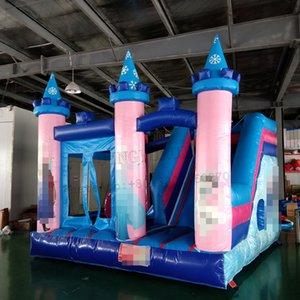 Çocuklar için Slide Küçük PVC Bounce Combo ile Açık Şişme Oyun Çocuk Mini Bounce Evi Trambolin Şişme Atlama Kale