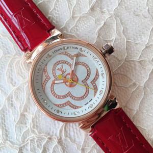 New Fashion Damenuhren Designer Frau Luxus-Diamant-Uhr Iced Out 32mm Quarz-Armbanduhr der legeren Kleidung Frauen-Uhr-Rose Gold reloj mujer