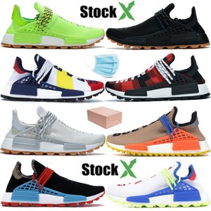 With mask NMD Human Race Pharrell Williams BBC know soul infinite species breath though oreo nude mens running shoes women designer sneakers