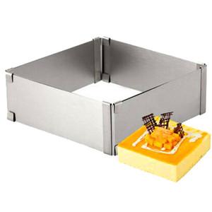 15-27.5CM regolabile in acciaio inox torta Piazza Mold mousse al cioccolato dell'anello che cuociono Accessori torta che decora gli attrezzi
