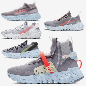 Eco-friendly spazio Hippie zoomx Bidoni scarpe intrecciate Mens donne materiale di design arancio blu grigio Fashion Sneakers Sport