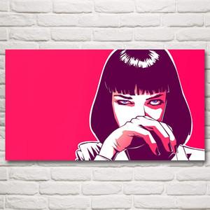 Pulp Fiction Mia Wallace Uma Thurman Film Art Tessuto di Seta Poster 11x20 16x29 20x36 Pollici Home Decor Immagini Spedizione Gratuita