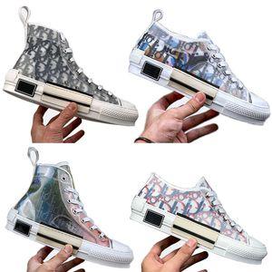 2020 NOVO Melhor Esquerda Direita calçados casuais B23 Oblique High Top das mulheres dos homens Moda Sneakers mandris vulcanizada Ice Chaussures Tamanho 35-44