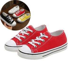 2019 zapatos de lona de los niños New Classic Chicas Chicos caramelo de las zapatillas de deporte del tendón únicos zapatos casuales color sólido Chaussures Garcon Enfant