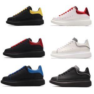 Negro blanco reflectante Plataforma zapatillas de deporte casuales de deportes que andan en monopatín zapatos para mujer para hombre diseñador de zapatos de terciopelo piel de becerro Deportes Trainer