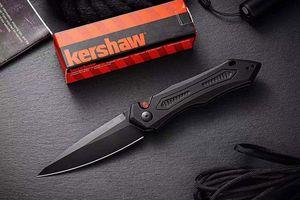 Kershaw 7800 CPM 154 piegante della lama anodizzato nero manico in lega di alluminio di campeggio di caccia Torna in acciaio pieno clip lavorazioni meccaniche di precisione CNC