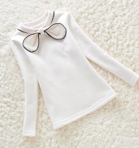 nouvel hiver filles bébé de couleur unie chandail enfants Big vêtements enfants pull manches longues chaud pour les filles knitwear