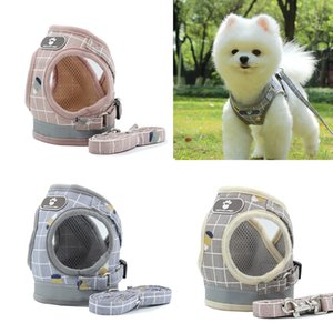 New dog harness dog collar reflective breathable harness pet leash collars and harnesses correa para perro factory Outlet