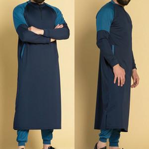 Мужская Thawb Ближний Восток мусульманский арабский халат Исламское платье кафтан Дубай Макси Тобе кафтан свободного покроя кафтан