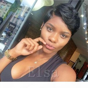 Brazilian Full Lace Front Bob Human hair Wig with baby hair Pixie cut lace wig bob full lace Pixie Cut Short Human Hair Wigs For Black Women