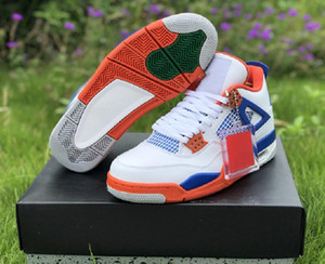 Top Quality 4 White Game Royal Orange Mens Designer Basketball Shoes New Comfort IV Fashion Sports Sneakers Come With Original Box