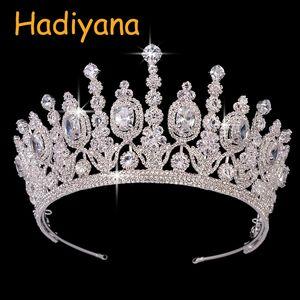 Hadiyana New Bridal Classical Couronne De Mariage Crowns 2018 Lusso ellittico zircone Festa nuziale Grande corona per le donne Bc4053 MX190817