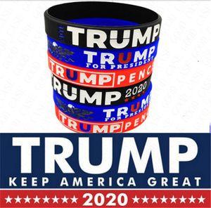 2020 Trump Donald Silica Gel Bangle Trump Keep America Great Letters Printing Wrist Unisex Environmental Bracelets Accessories D61809