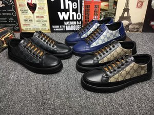 Le nuove scarpe casuali di sport di alta qualità del legame di cuoio degli uomini 2019 portano Leathe il modello bianco Scarpe casuali di trasporto libero