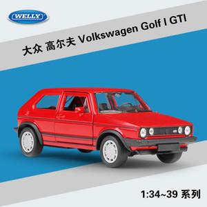 WELLY Döküm Araç Modeli Oyuncak, Pull Back, 01:36 Yüksek Simülasyon, Parti Kid' Doğum Noel Hediyeler, Ev Süs ile Volkswagen Golf I GTI