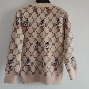 New Designer Womens camisola de malha Moda Feminina Luxo Brasão Marca Knit Cardigan camisolas Meninas Primavera Roupa Casual Top Designer 2032761Y
