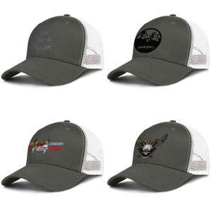 Bon Jovi 1989 Cuore e Dagger verde militare per gli uomini donne camionista di design di baseball cap personalizzato personalizzato cappelli di maglia caraibi Bon Jovi 3 A