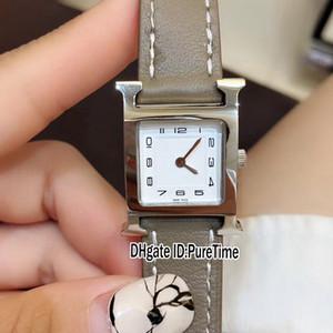 New W036709WW00 aço capa Textura Branco Dial couro quartzo suíço Womens Watch Senhoras relógios desportivos Grey Branco Linha Original Box H21a1