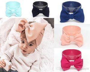DHL ребёнки Big Bow Knot оголовье Тюрбан Аксессуары для волос Группа волос Wrap Детские головные уборы 16 Colors
