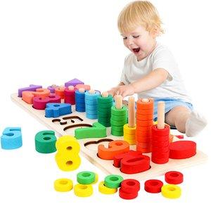 لعب مونتيسوري التعليمية الخشبية للأطفال مجلس الرياضيات أرقام عدد الصيد مطابقة الشكل الرقمي المباراة في وقت مبكر التعليم لعبة CX200609