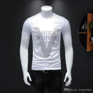 Hommes T-shirts pour hommes T-shirt Designer Vlone mens 2020 vêtements de marque de luxe de vêtements de créateurs de Black Blanc