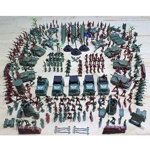 307 шт Военного 4см солдат Пластиковые модели армии игрушка Фигурка Декор Play Set Модель игрушка для детей Рождественского подарка