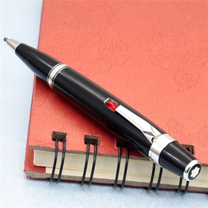Luxe MB marque 11 cm Bohème série résine noire stylo à bille cristal stylos de marque de papeterie de bureau de l'école d'écriture cadeau stylo d'affaires