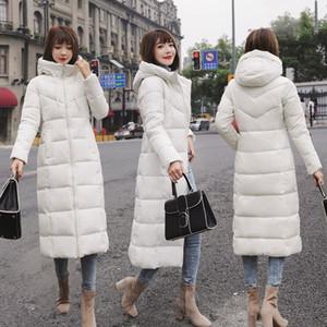 Mujer chaqueta de invierno 2018 con capucha más el tamaño M-6XL con cuello de piel cálido grueso chaqueta abajo acolchado de algodón moda femenina para mujer abrigo
