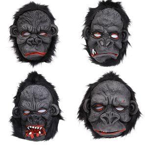 Scary Halloween mask Orangutan mask horror role play silicone prop orangutan masquerade ball supplies 4 styles T3I5626