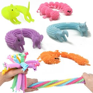 18.5*3cm Creative Tricky Kids Funny Toys Adult Vent Caterpillar Decompression Pull Rope TPR Caterpillar Decompression Vent Toys