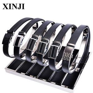 Aço Moda prata inoxidável Homens Mulheres Belt loja exibição armazenamento caso cintos de couro expositores Titular rack