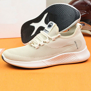 Spring and summer casual shoes ultra-light design men's and women's sports shoes solid color classic luxury mesh breathable size 34-44