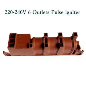Neue 220V Gasherd Ac Pulse Anzünder mit sechs Terminals Gas-Warmwasserbereiter Teile Anzünder für Cooktop Bereich Sonstige Küchen Bar Restaurants