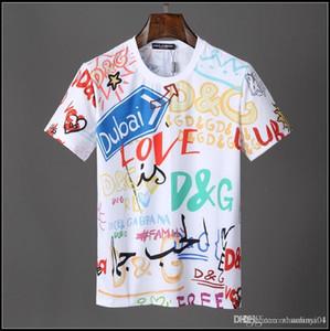 2019 Diseñador de Verano Camisetas Para Hombres Tops camiseta de impresión de algodón Ropa de Hombre Marca de manga corta camiseta de Las Mujeres Tops M-3XL