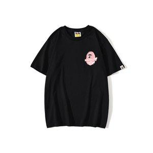 Nuovo arrivo maglietta Streetwear donne degli uomini di Hip Hop T shirta Bathing Ape cotone di alta qualità Mens T Tees camicia V