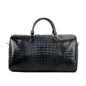 Women Fitness Gym Weekend Alligator Cow Genuine Leather Duffle Training Bag Capacity Travel Large Handbags Male Luggage Lady Vlnap